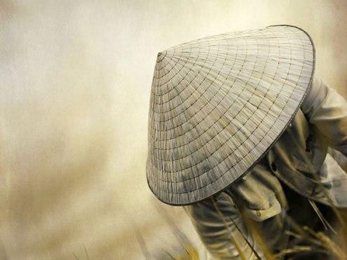 Non-la-sombrero-cónico-de-Vietnam